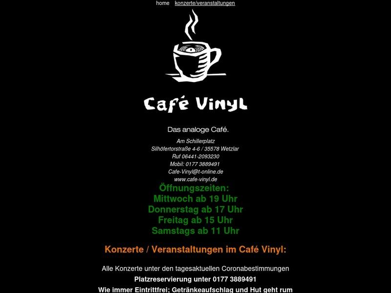 Screenshot von http://www.cafe-vinyl.de
